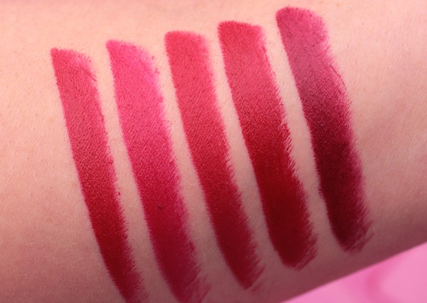 Urban Decay Vice Lipstick Red swatches 2 Urban Decay Red Lipstick Guide