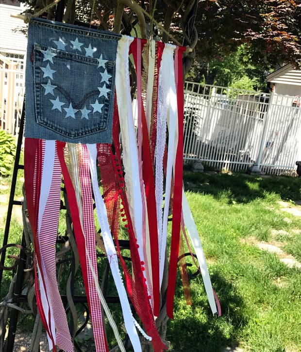 shabby chic American flag easy DIY projects
