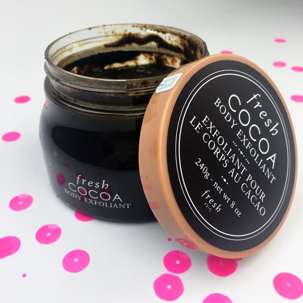 Fresh Cocoa Body Exfoliant review Fresh Cocoa Body Exfoliant, or showering with chocolate
