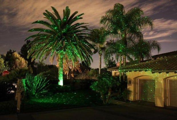 Blisslights green outdoor palm trees BlissLights: One Little Light Can Decorate Your WHOLE House