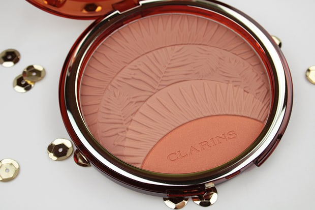 Clarins sunkissed summer 2017 collection bronzer embossed leaves Clarins Sunkissed Summer 2017 collection swatches and review