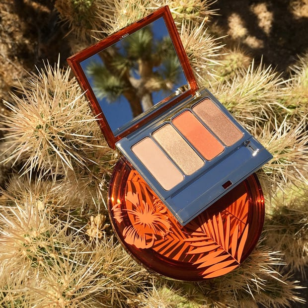 Clarins sunkissed summer 2017 limited edition eye shadow palette in the desert Clarins Sunkissed Summer 2017 collection swatches and review