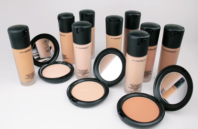 MAC Next to Nothing Face colour foundation MAC Next to Nothing Face Colour and Pressed Powder swatches and review