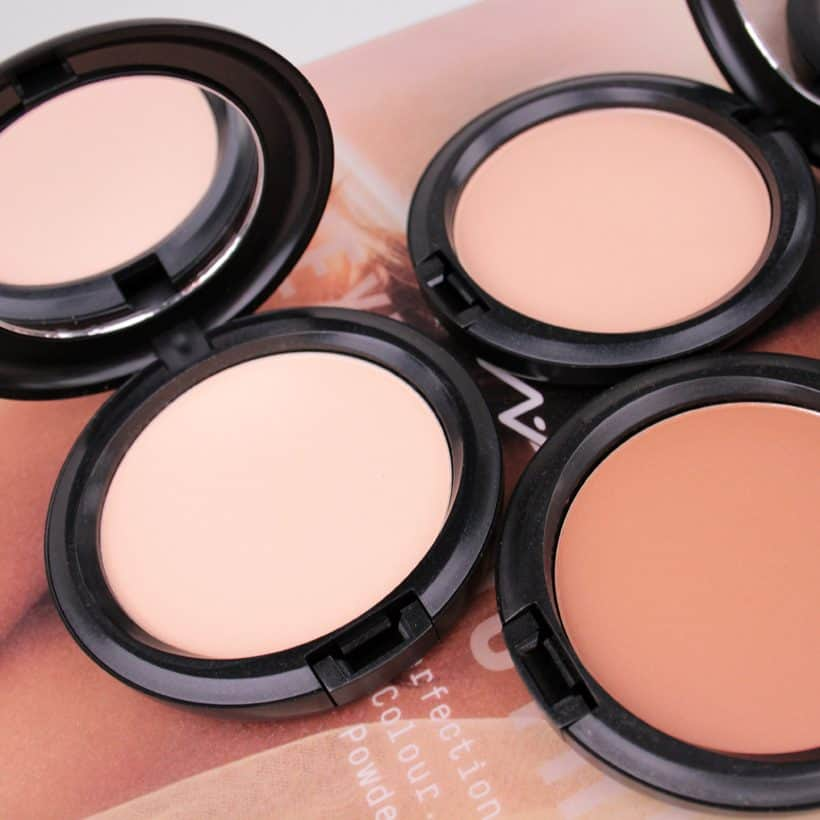 MAC Next to Nothing Face Colour and Pressed Powder swatches and review