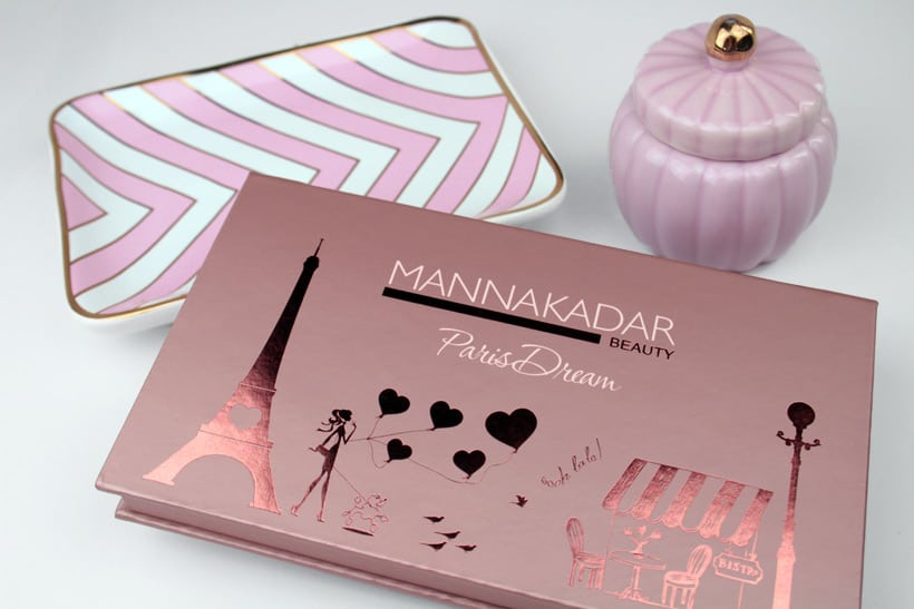 Manna Kadar Paris dream palette exterior packaging Manna Kadar Cosmetics Paris Dream Palette review and looks