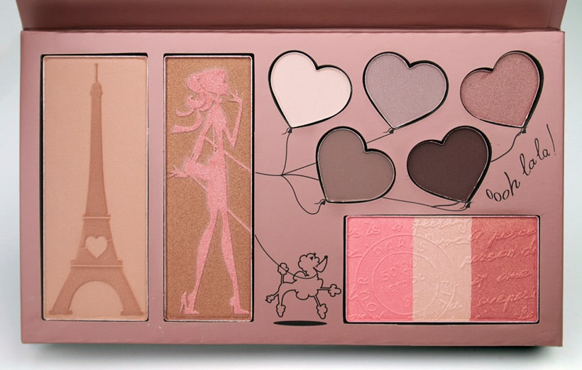Manna Kadar Paris dream palette interior packaging Manna Kadar Cosmetics Paris Dream Palette review and looks