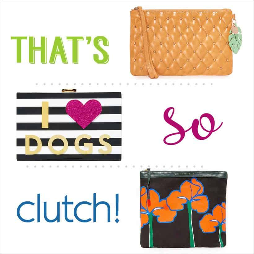 Clutch Bags (and much more!) 20% off at Shopbop for 3 days