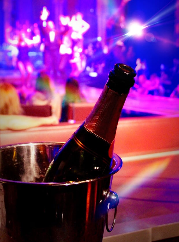 Champagne in bucket at Las Vegas show