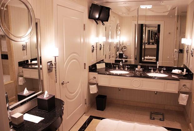 The Palazzo Las Vegas hotel vanity in bathroom