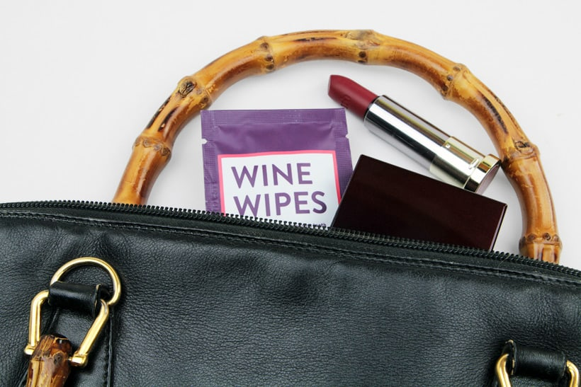 wine wipes vintage gucci bamboo purse Because Red Teeth are Never Cute, Theres Wine Wipes...