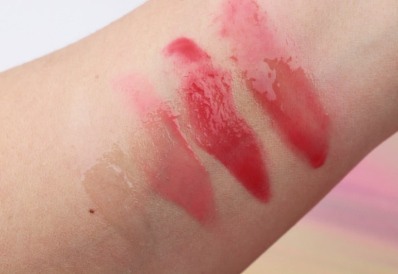 Dr PawPaw peach pink red balm swatches A Beauty Hack from Across the Pond: Dr. PawPaw Balm