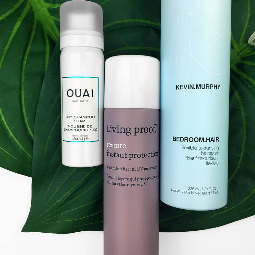 Hair Trio web Hair Must Haves from Ouai, Living Proof and Kevin Murphy