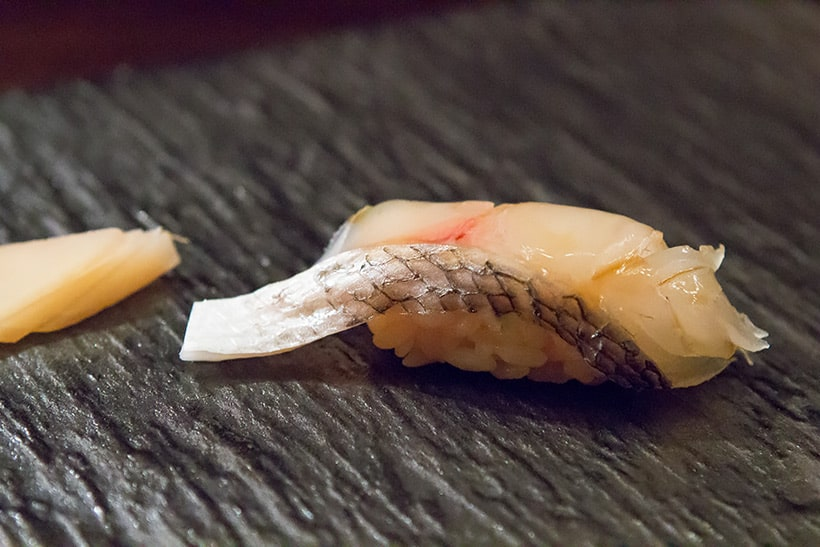New Zealand Black Snapper sushi