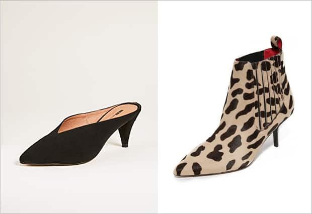 leopard print kitten heel boots