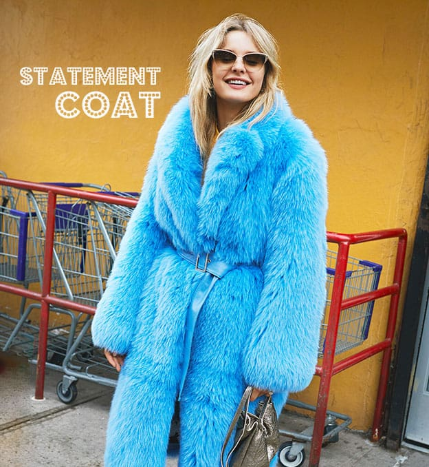 brightly colored faux fur coats for fall