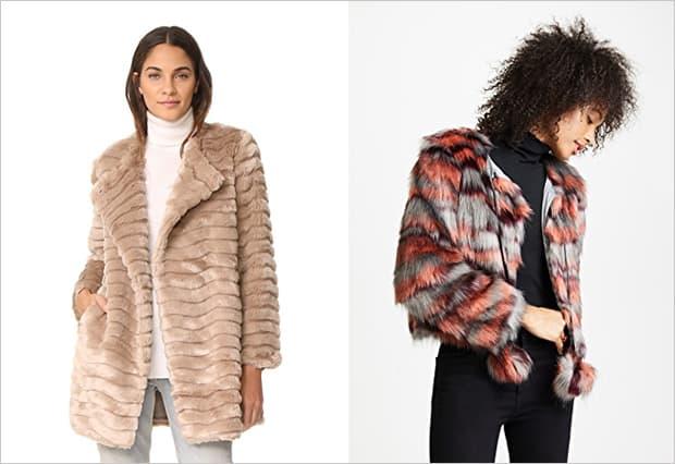 affordable faux fur coats