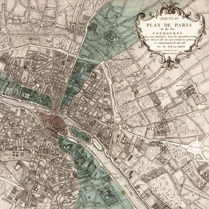 Vintage Paris Map Whats Your Ultimate Beauty Destination?