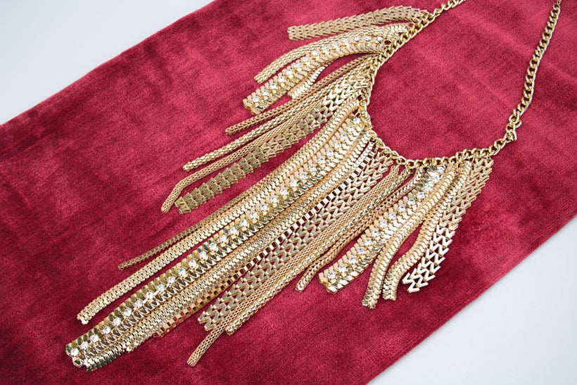 7 Charming sisters gold chain statement necklace 2 The Best Statement Necklaces for Fall