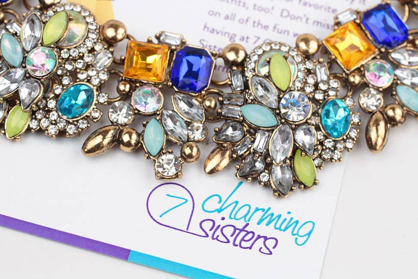 7 Charming sisters rhinestone statement necklace 1 The Best Statement Necklaces for Fall