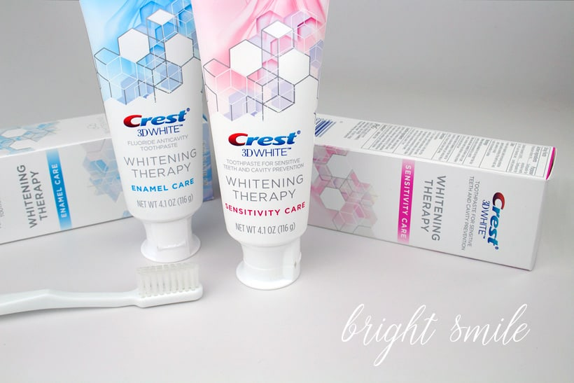 Fall 2017 beauty picks crest 3D White whitening therapy sensitivity care toothpaste Five Fall Beauty Must Haves