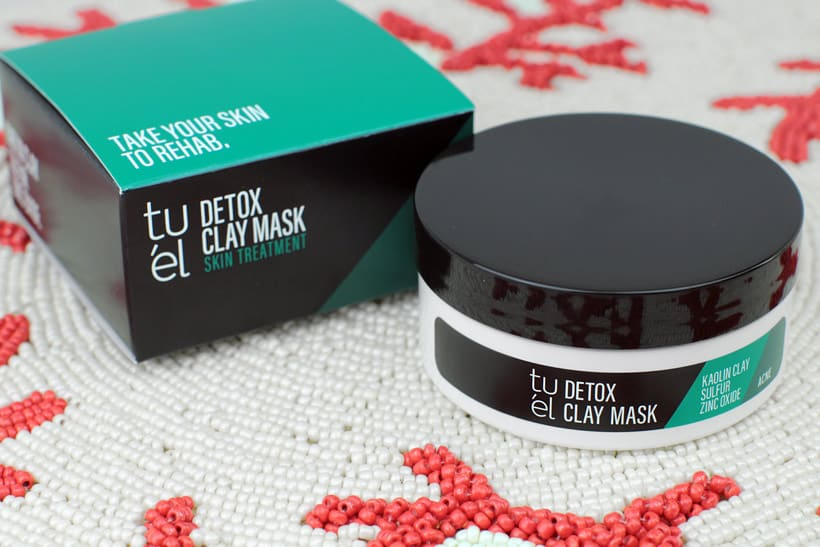 Indie skincare brand Tuel Detox Clay Mask for acne
