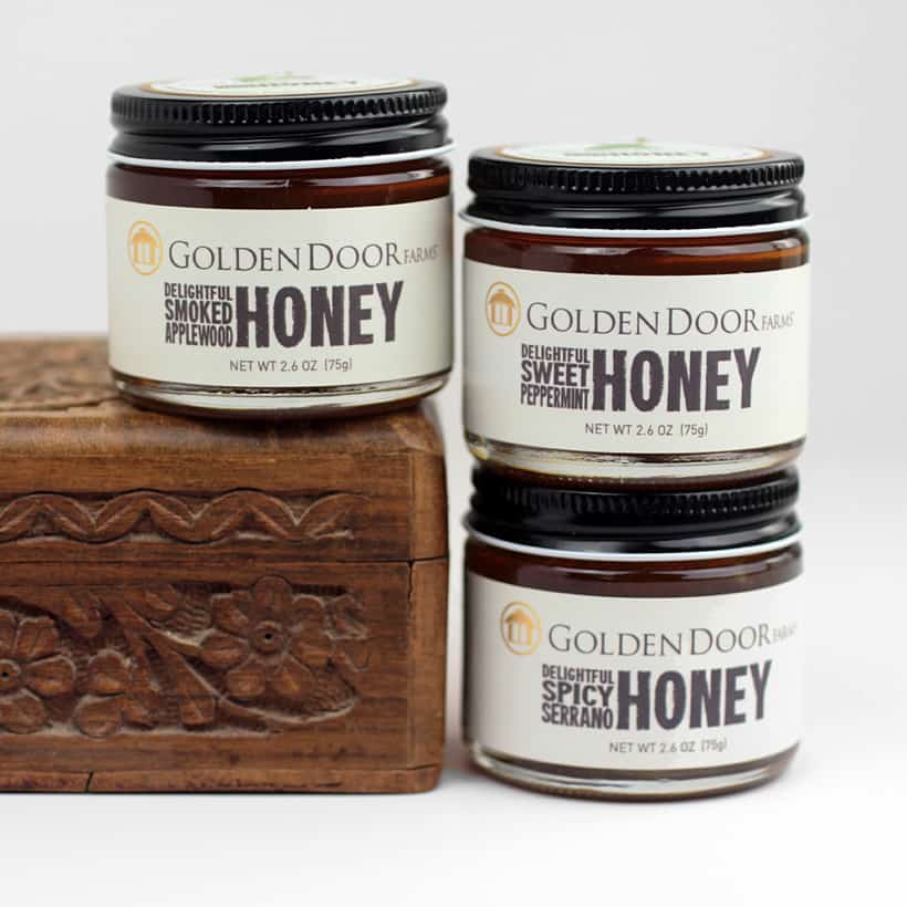 Golden Door Farms Honey collection Holiday Gift Guide for Foodies