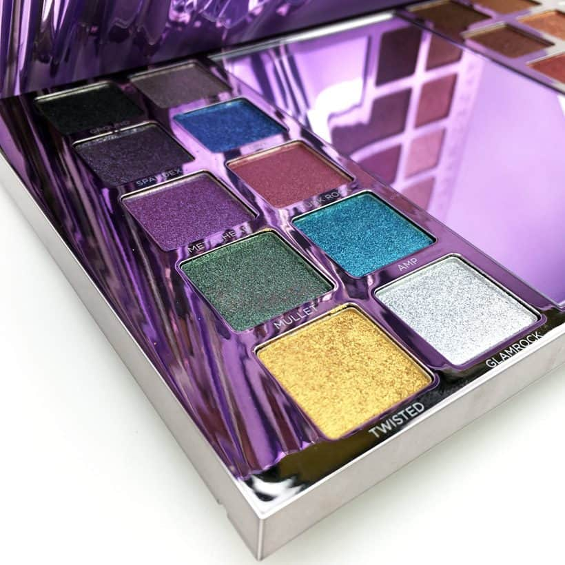 Urban Decay Heavy Metals Metallic Palette swatches, looks and review