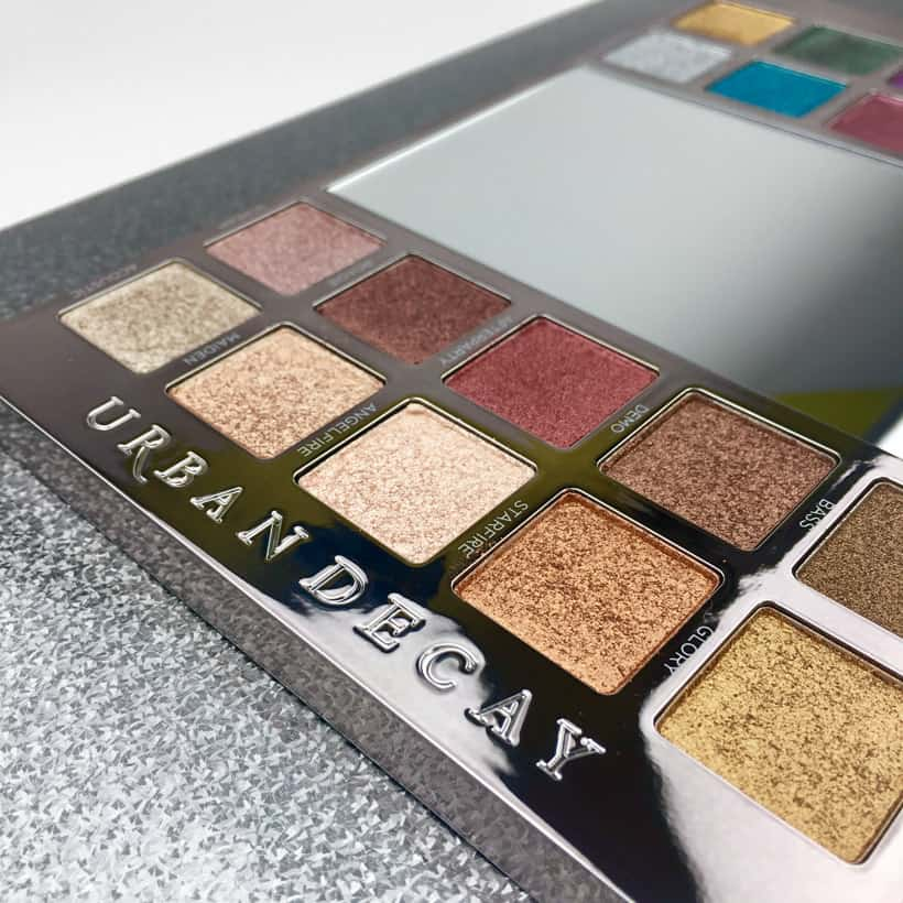 Urban Decay Heavy Metals Metallic Eyeshadow palette neutrals 1 Urban Decay Heavy Metals Metallic Palette swatches, looks and review