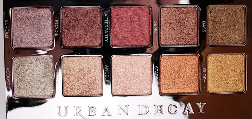 Urban Decay Heavy Metals Metallic Eyeshadow palette neutrals 2 Urban Decay Heavy Metals Metallic Palette swatches, looks and review