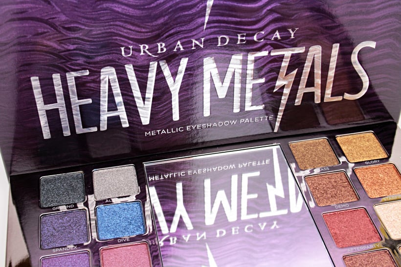 Urban Decay Heavy Metals Metallic Eyeshadow palette review 1 Urban Decay Heavy Metals Metallic Palette swatches, looks and review