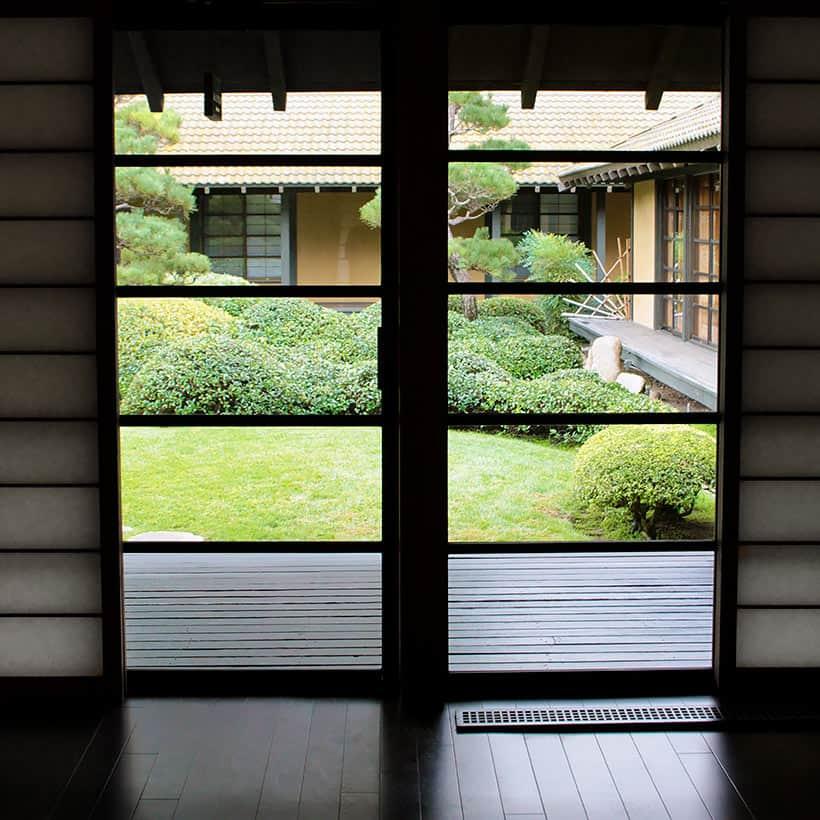 Golden Door courtyard A Peek Behind the Golden Door