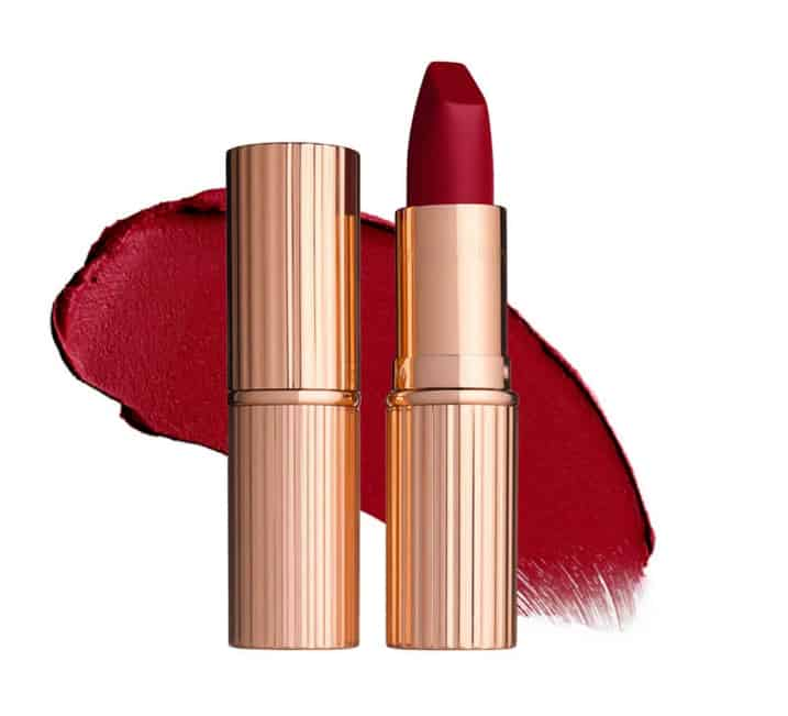 Charlotte Tilbury Matte Revolution lipstick Red Carpet Red review The Perfect Red Lipsticks for Valentines Day (as chosen by we heart this)