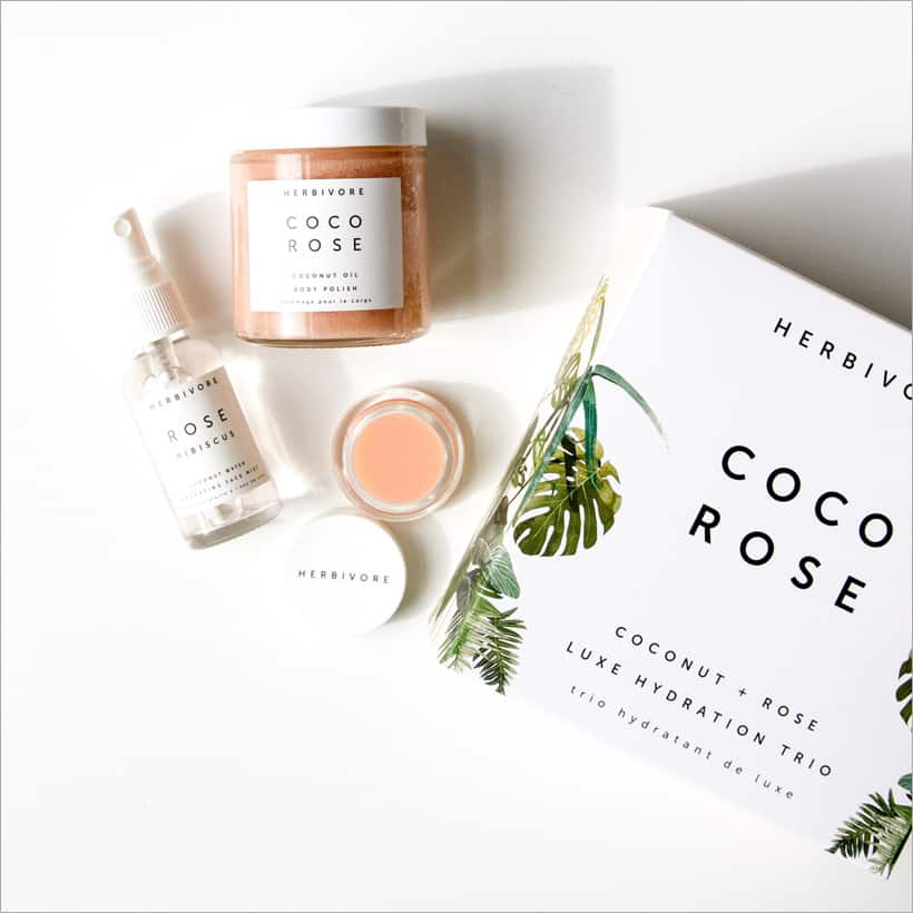 Herbivore Coco Rose Luxe Hydration Trio review Five Rosy Valentines Day Gifts That Aren't Roses