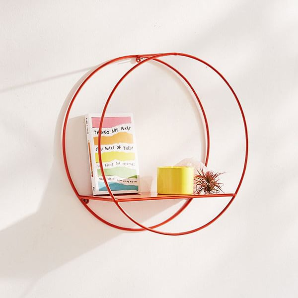 Metal circle shelf from Urban Outfitters