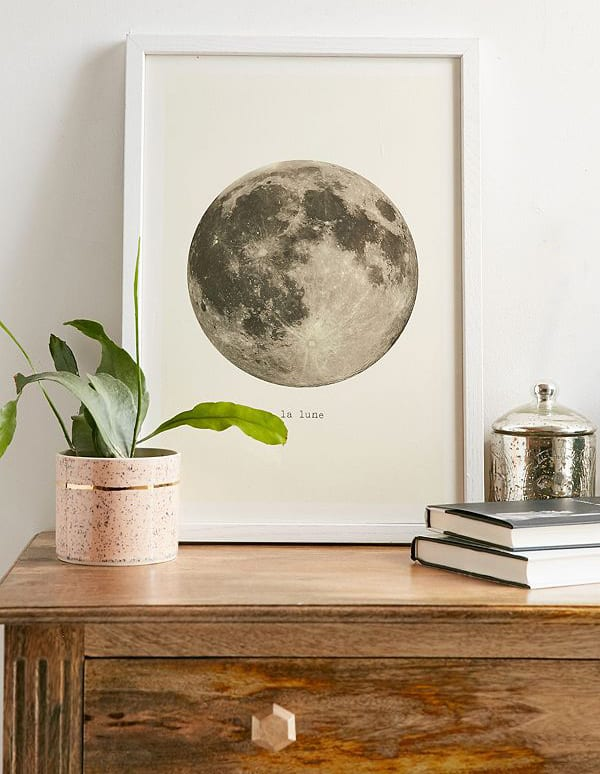 Black and White French Moon print from Urban Outfitters