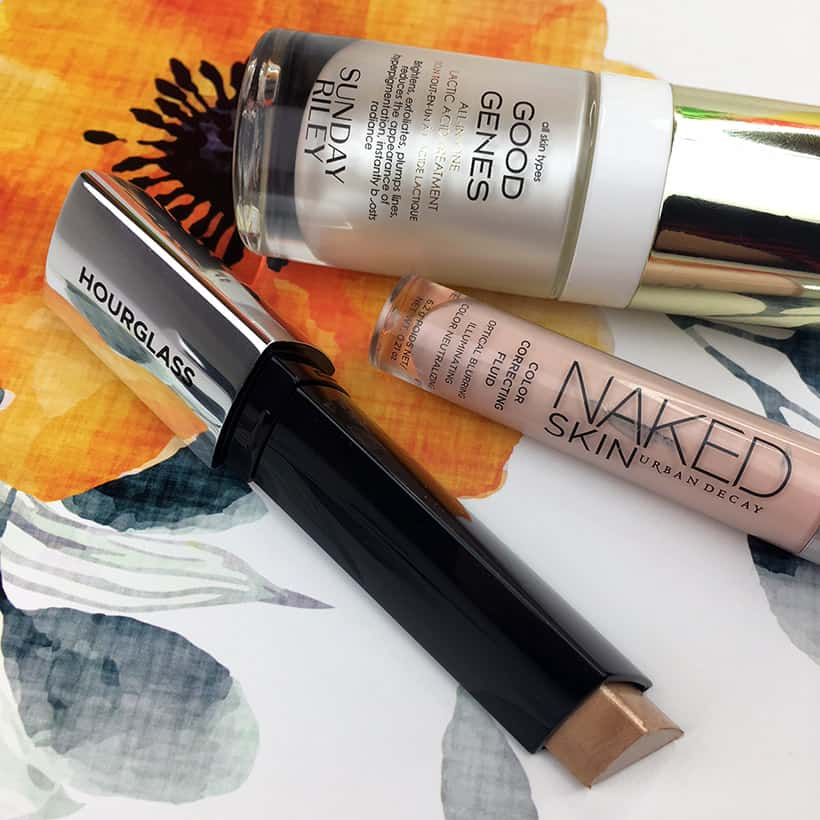 Sunday Riley Good Genes Urban Decay Naked Skin Color Corrector Hourglass Vanish Highlighting Stick are the beauty Products I reach for most