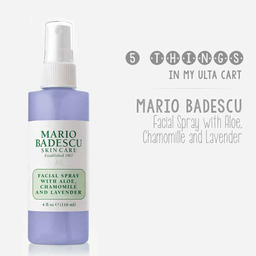 What's in my ulta cart for the Ulta sale new Mario Badescu Facial Spray with Aloe Chamomile and Lavender