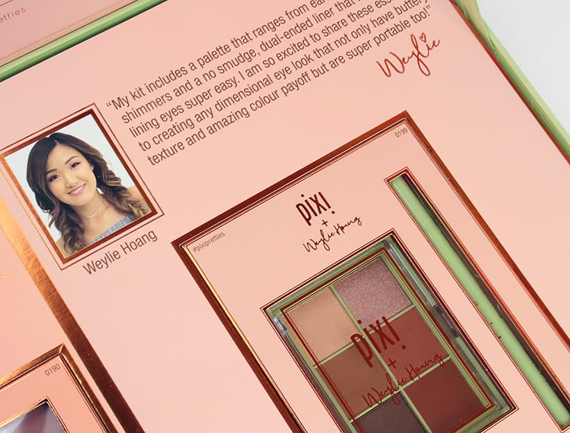 Pixi Weylie Hoang packaging Pixi Weylie Hoang Dimensional Eye Creator Kit swatches and review