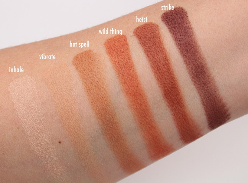 Urban Decay Naked Petite heat eye shadow swatches 3 5 New Urban Decay Products You Need Now