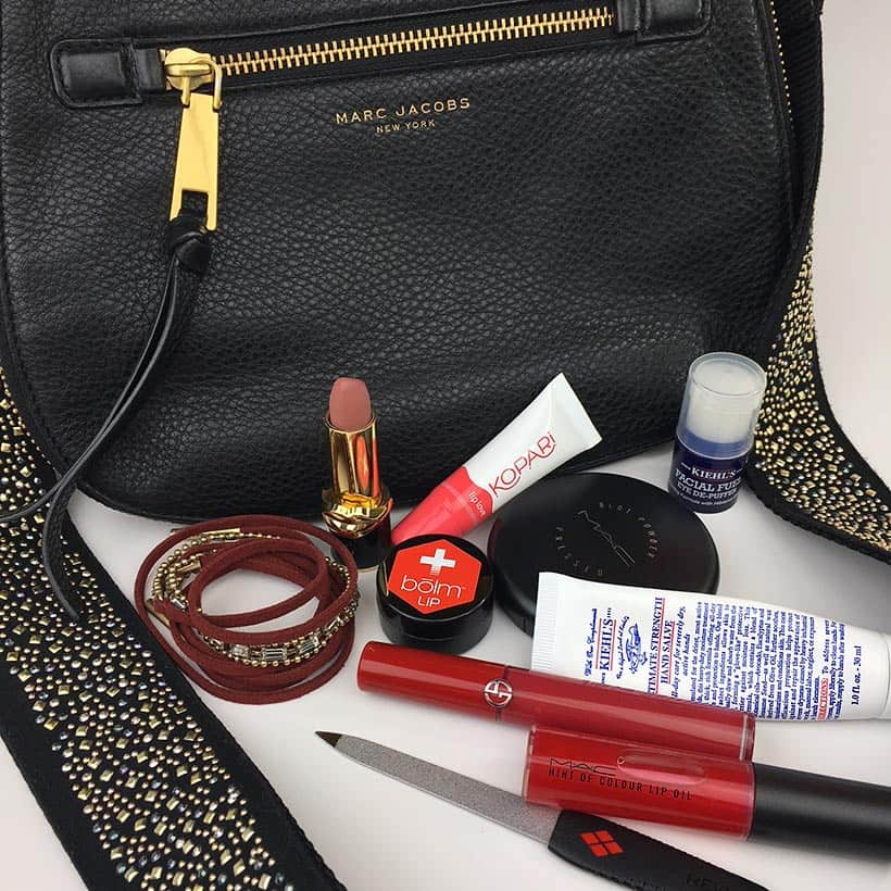 What's in  your purse: the beauty products found in my Marc Jacobs purse