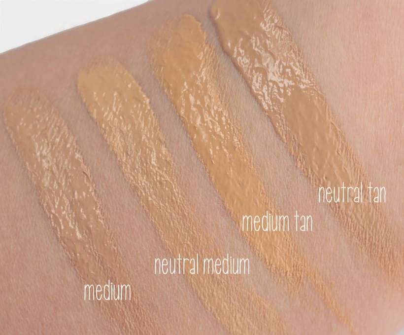 IT Cosmetics Bye Bye Foundation neutral medium swatches IT Cosmetics Bye Bye Foundation: swatches of all 12 shades