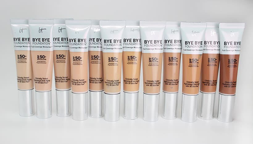 IT Cosmetics Bye Bye Foundation review 2 IT Cosmetics Bye Bye Foundation: swatches of all 12 shades