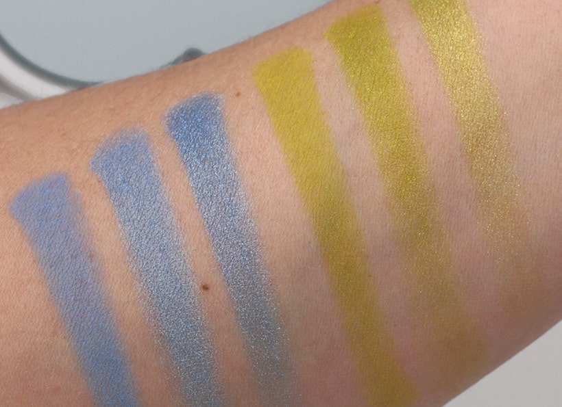 NYX Ultimate Multi Finish Palette Electric swatches 1 NYX Eyeshadow Palettes: Big Color, Not Big Price