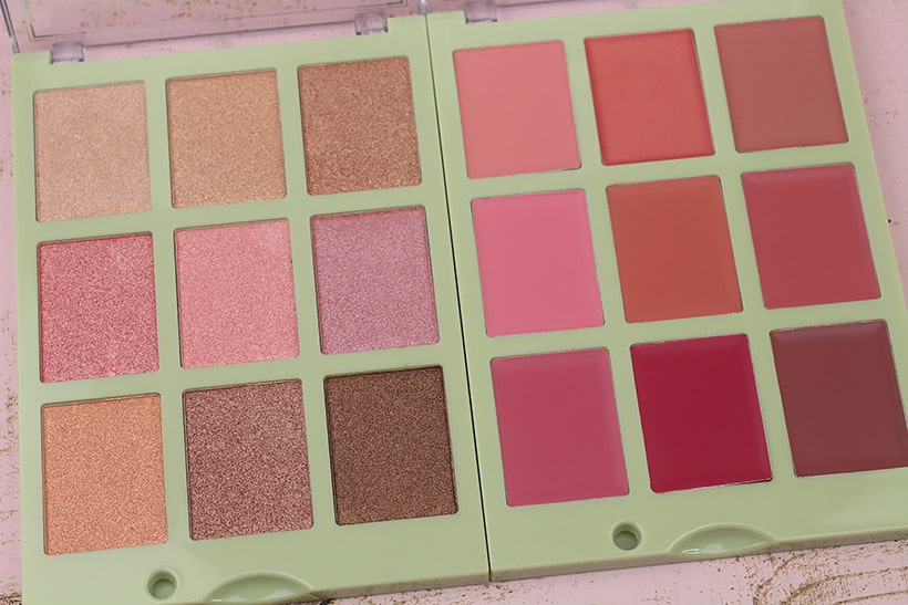 Pixi Dulces Lip Candy palette 1 Pixi Dulce Candy Palettes Swatched