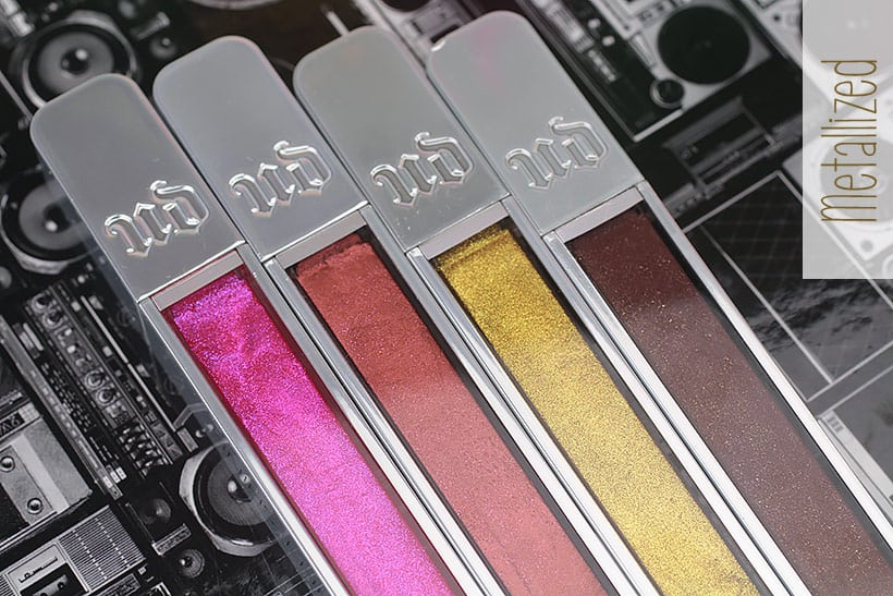 Urban Decay Hi fi Shine lip gloss metallized Urban Decay Hi Fi Shine Lip Gloss: Swatches of all 20 Shades