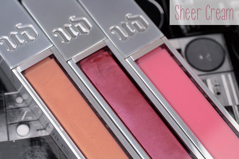 Urban Decay Hi fi Shine lip gloss sheer cream Urban Decay Hi Fi Shine Lip Gloss: Swatches of all 20 Shades