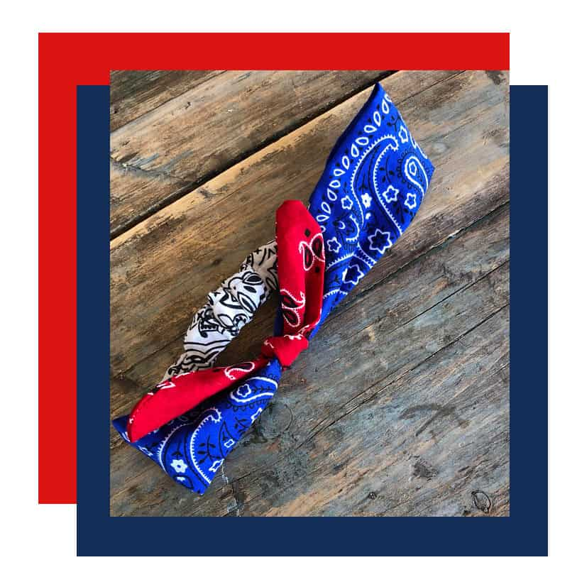 July 4 Red White Blue bandana Red, White and Blue July 4th Fashion