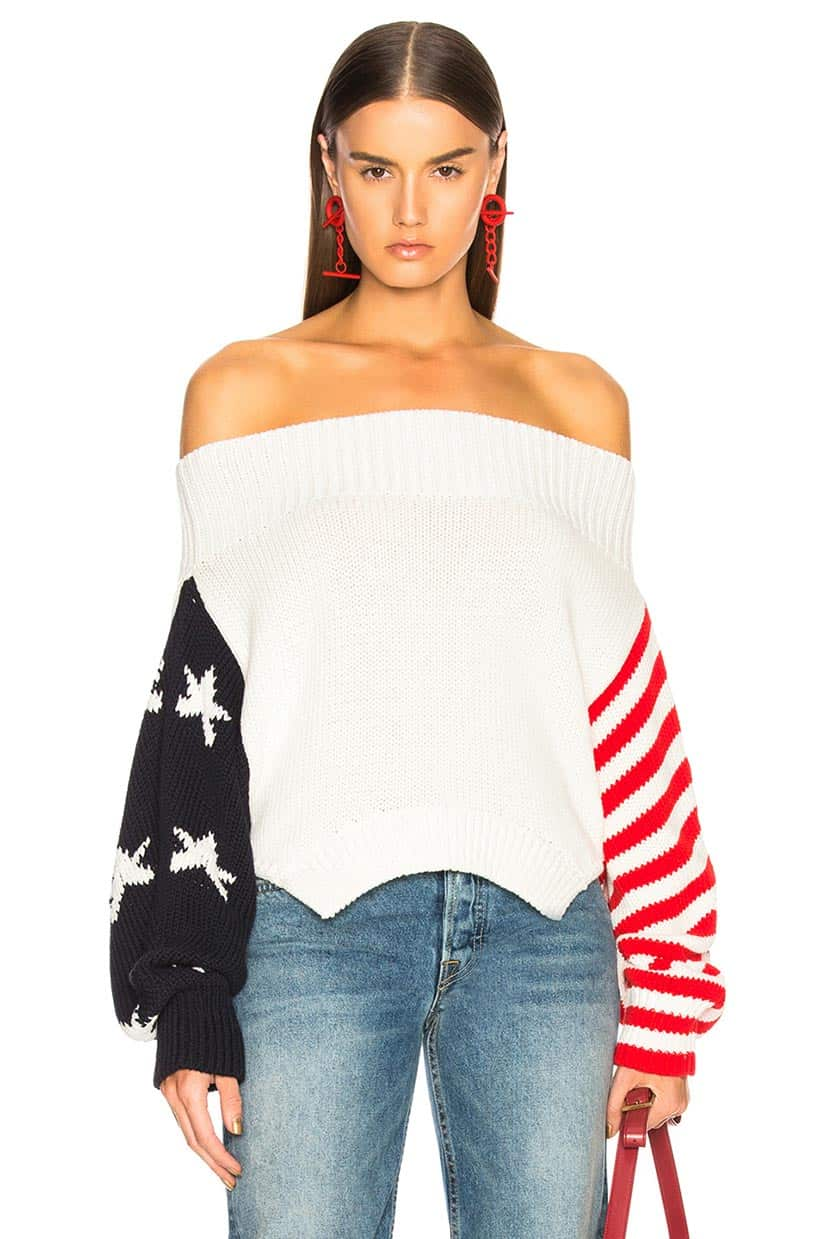 July 4 Red White Blue sweater Red, White and Blue July 4th Fashion