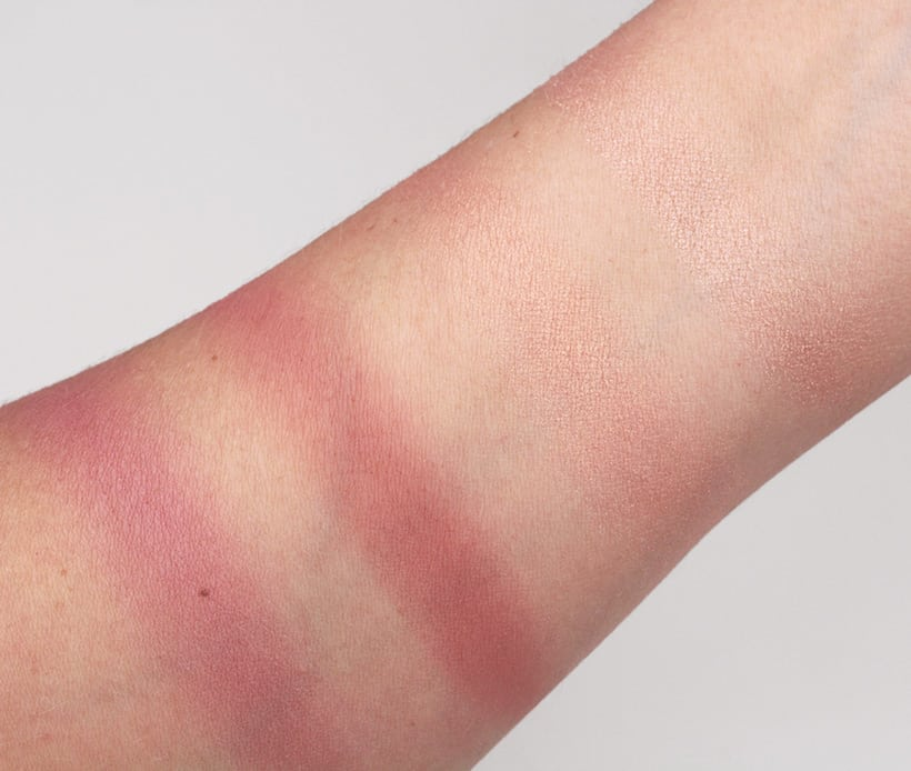 Urban Decay Backtalk Palette blush swatches