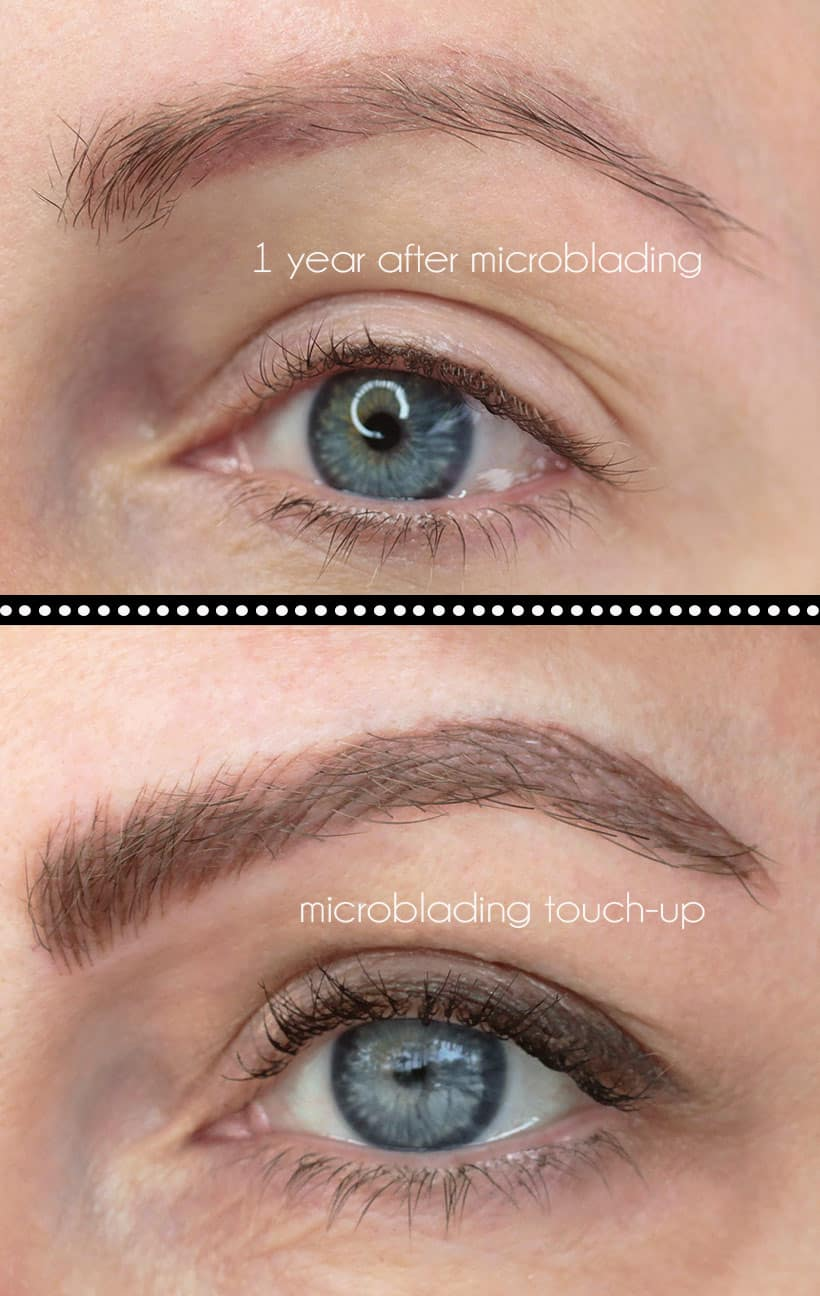 Before After Microblading examples Before and After Microblading Photos (And Why the Healing Process is A LOT Easier Now...)